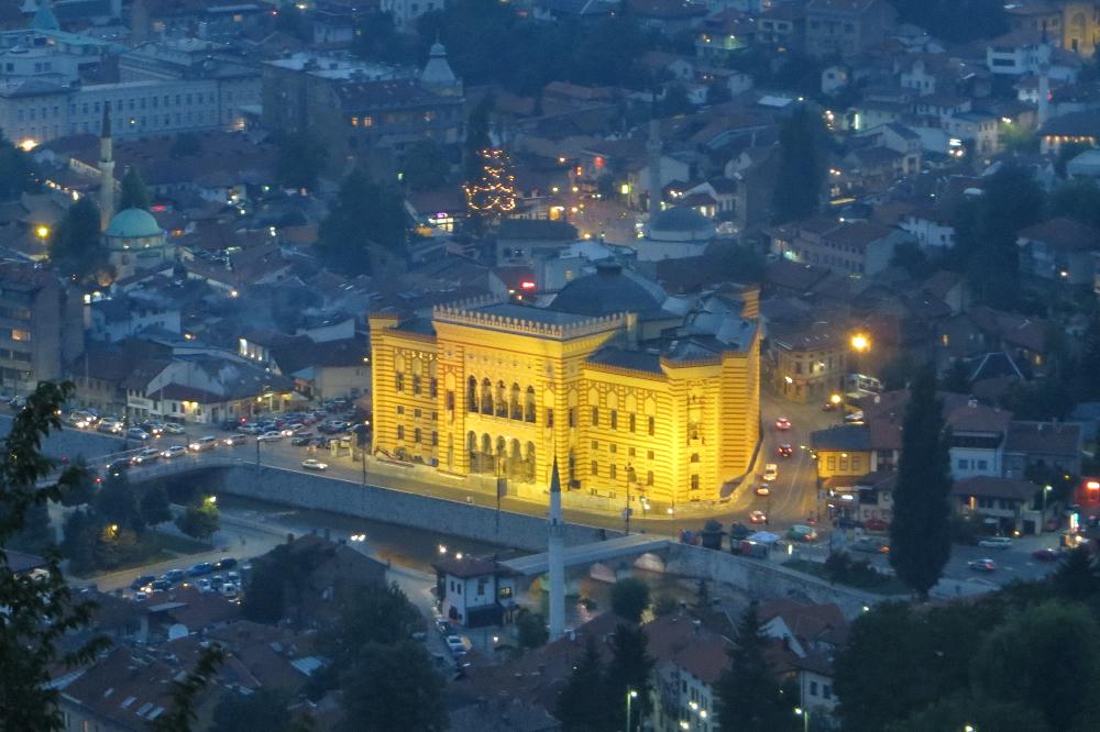 Vista panorâmica de Sarajevo, numa foto recente (autora: Alma Telibecirevic)