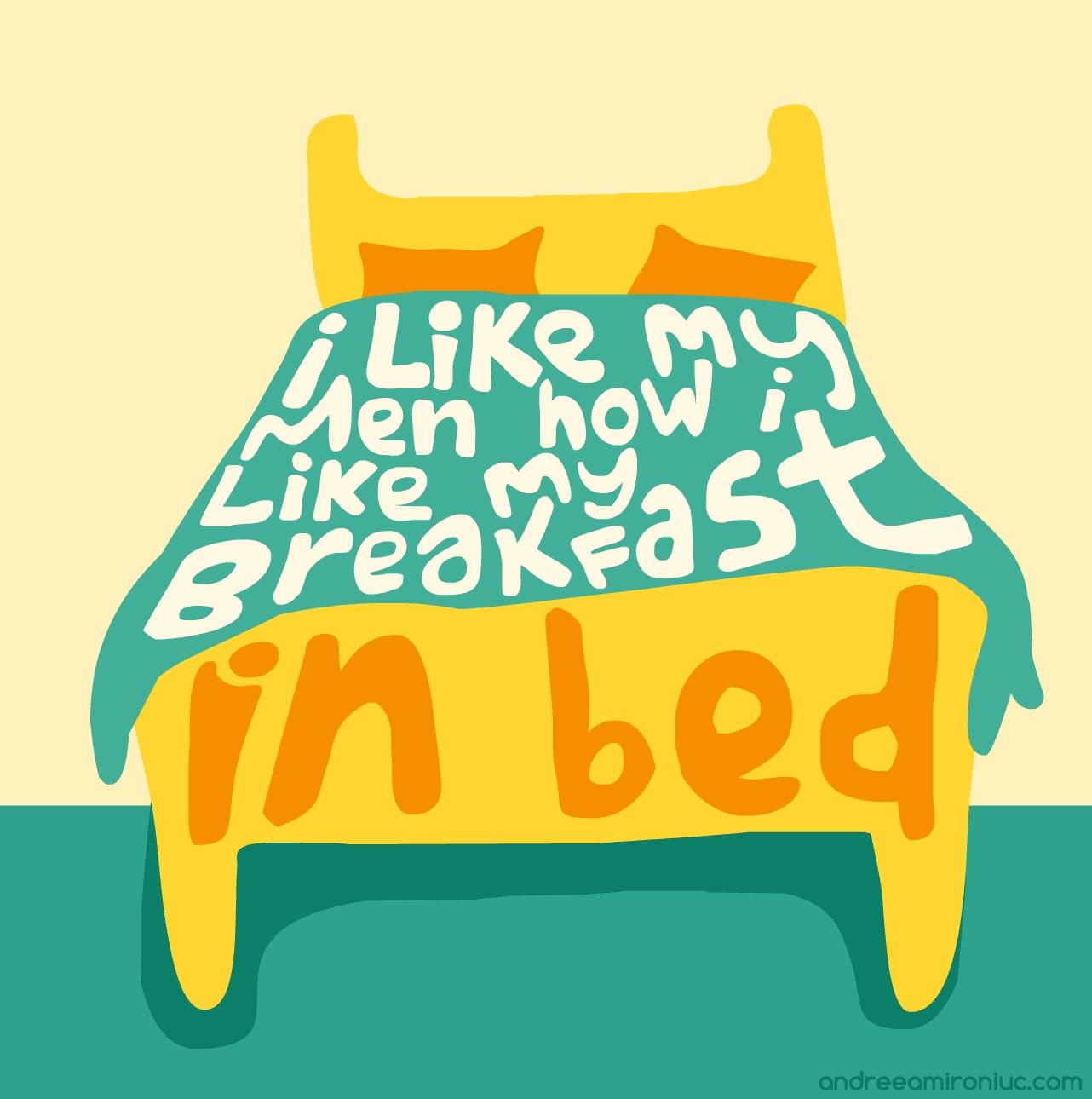 i like my men bed