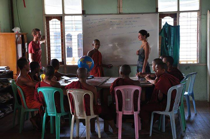 teaching English and Geography in a monastery in Mandalay, Myanmar.