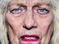 """Bruce Gilden: ohne Titel, aus dem Zyklus """"Portraits"""""""